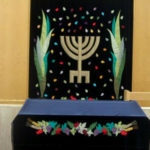 Seven Species and Ancient Menorah Parochet for Caesarea, Israel