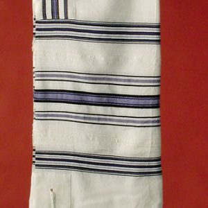 Tallit with Blue Combination Stripes