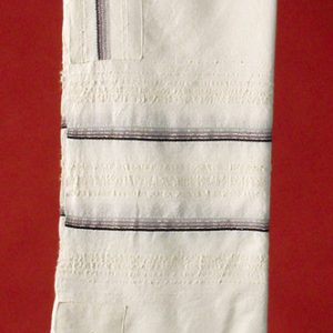 Tallit with Four Grays and Silver